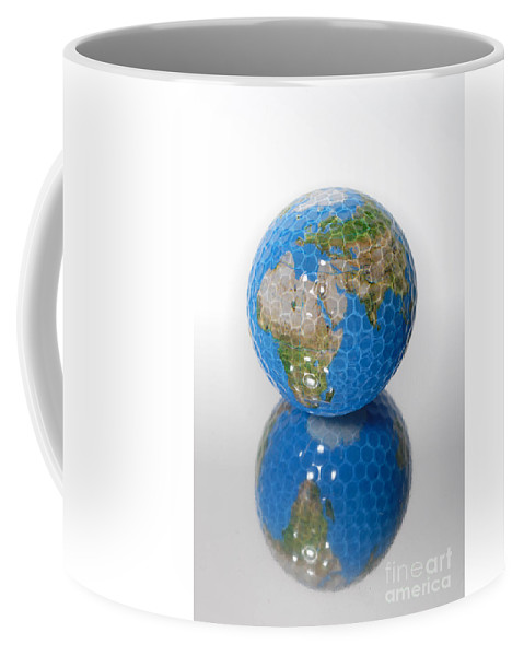 Africa Coffee Mug featuring the photograph Golf Ball Globe by Amy Cicconi