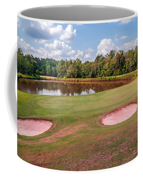 Activity Coffee Mug featuring the photograph Golf Course Beautiful Landscape On Sunny Day by Alex Grichenko