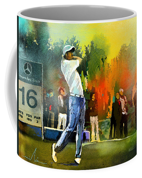 Golf Coffee Mug featuring the painting Golf In Gut Laerchehof Germany 01 by Miki De Goodaboom