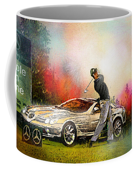 Golf Coffee Mug featuring the painting Golf In Gut Laerchehof Germany 03 by Miki De Goodaboom