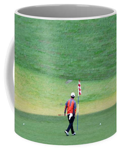 Chambers Bay Coffee Mug featuring the photograph Golfer by Tikvah's Hope