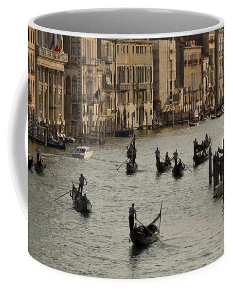 Venice Italy Coffee Mug featuring the photograph Gondolas On The Grand Canal by Dennis Hedberg