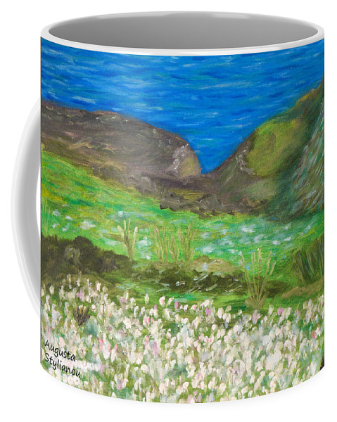 Gone With The Wind Coffee Mug featuring the painting Gone With The Wind by Augusta Stylianou