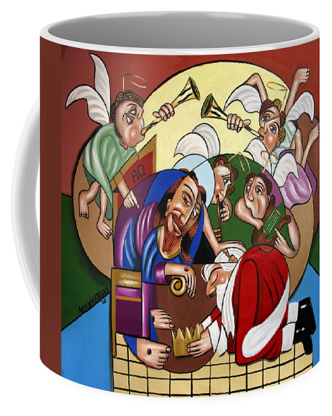 Good And Faithful Servant Coffee Mug featuring the painting Good And Faithful Servant by Anthony Falbo