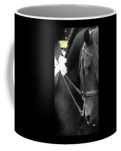 Friesian Competition Coffee Mug featuring the photograph Good Boy by Fran J Scott