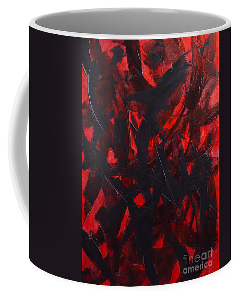 Abstract Coffee Mug featuring the painting Good Bye by Dean Triolo