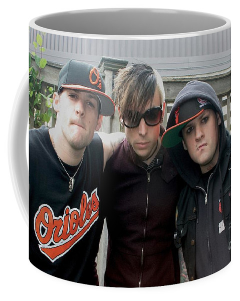 Caps Coffee Mug featuring the photograph Good Charlotte by Concert Photos