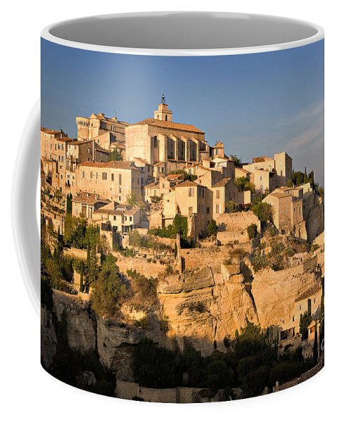Travel Coffee Mug featuring the photograph Gordes by Louise Heusinkveld