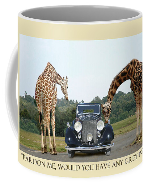 Pardon Me Coffee Mug featuring the photograph Got Grey Poupon by Jack Pumphrey