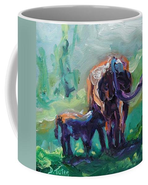 Donna Tuten Coffee Mug featuring the painting Got Milk by Donna Tuten