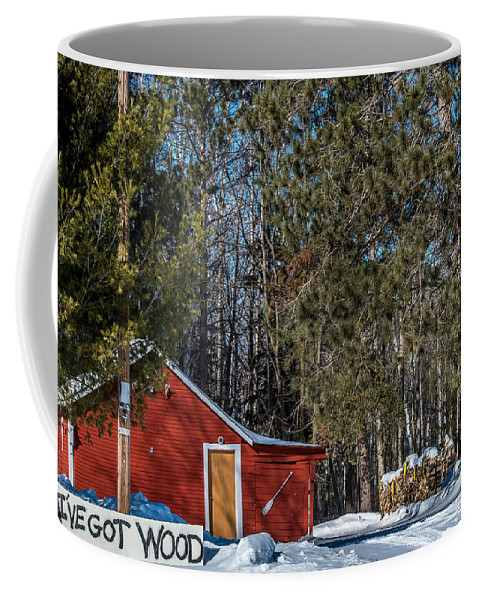 Old Barn Coffee Mug featuring the photograph Got Wood by Paul Freidlund