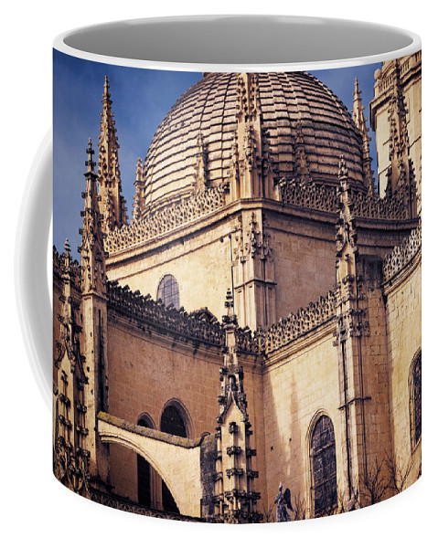 Ancient Coffee Mug featuring the photograph Gothic Cathedral by Joan Carroll