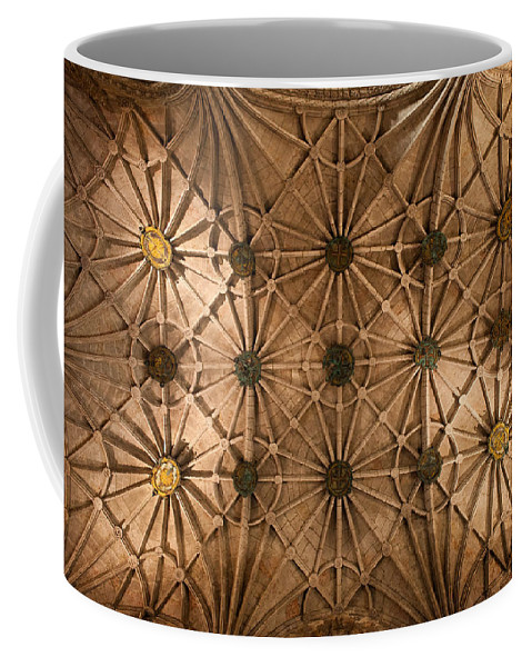 Jeronimos Coffee Mug featuring the photograph Gothic Ribbed Vault Of Jeronimos Monastery Church by Artur Bogacki
