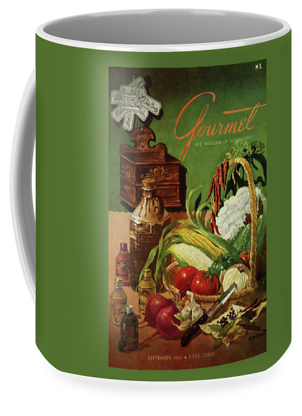 Food Coffee Mug featuring the photograph Gourmet Cover Featuring A Variety Of Vegetables by Henry Stahlhut