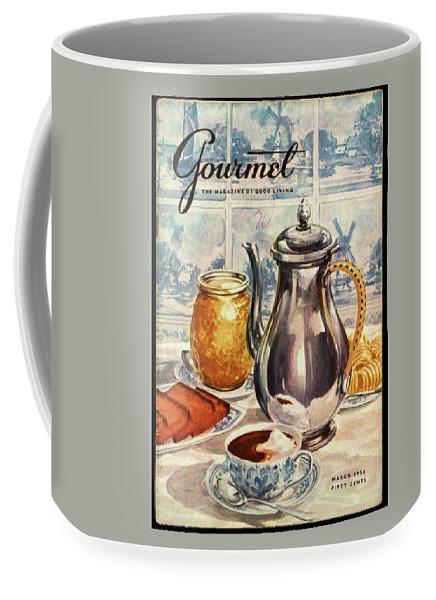 Illustration Coffee Mug featuring the photograph Gourmet Cover Featuring An Illustration by Hilary Knight