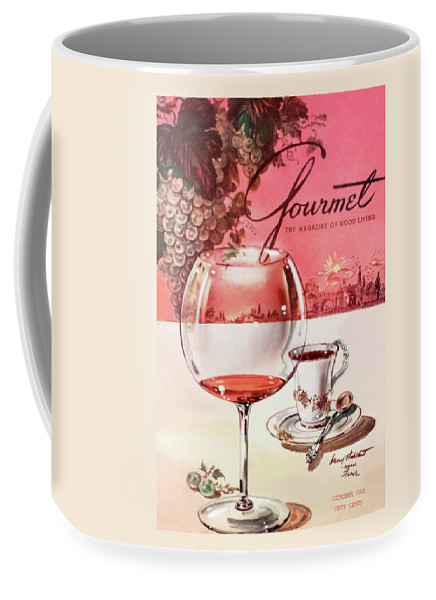Gourmet Cover Illustration Of A Baccarat Balloon Coffee Mug