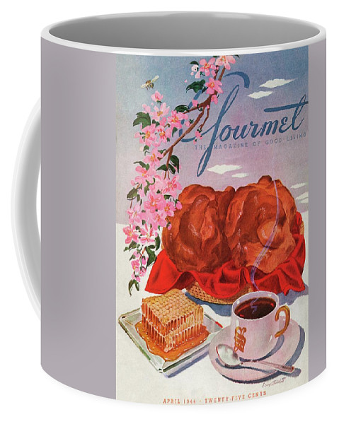 Food Coffee Mug featuring the photograph Gourmet Cover Illustration Of A Basket Of Popovers by Henry Stahlhut