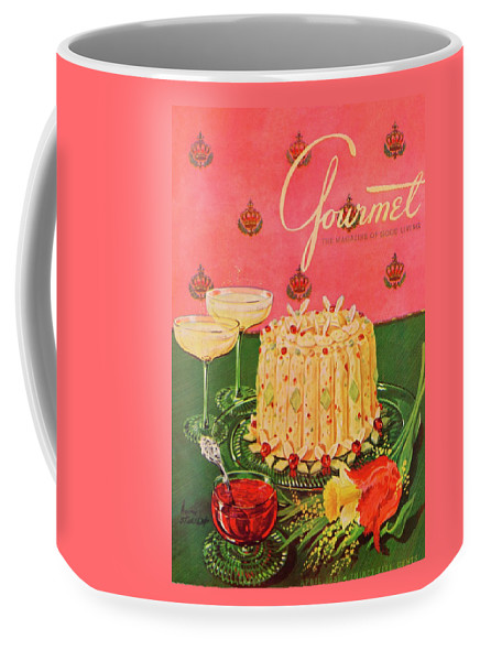 Illustration Coffee Mug featuring the photograph Gourmet Cover Illustration Of A Molded Rice by Henry Stahlhut