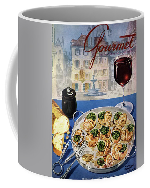 Food Coffee Mug featuring the photograph Gourmet Cover Illustration Of A Platter by Henry Stahlhut