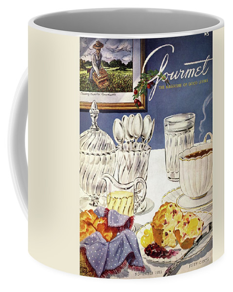 Food Coffee Mug featuring the photograph Gourmet Cover Illustration Of Cranberry Muffins by Henry Stahlhut