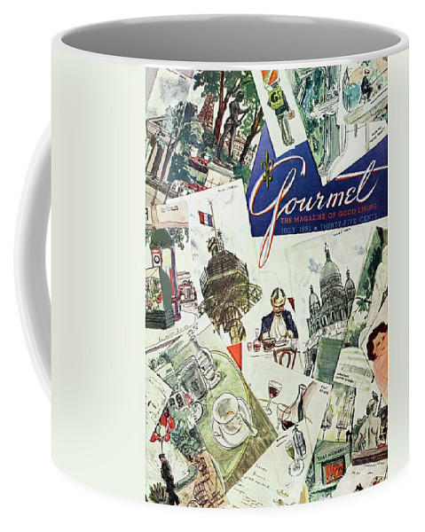 Illustration Coffee Mug featuring the photograph Gourmet Cover Illustration Of Drawings Portraying by Henry Stahlhut