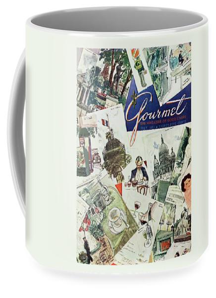 Gourmet Cover Illustration Of Drawings Portraying Coffee Mug