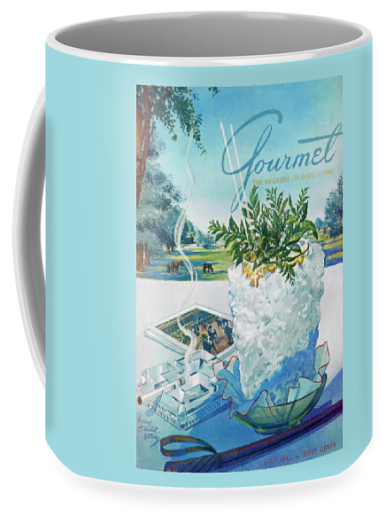 Food Coffee Mug featuring the photograph Gourmet Cover Illustration Of Mint Julep Packed by Henry Stahlhut