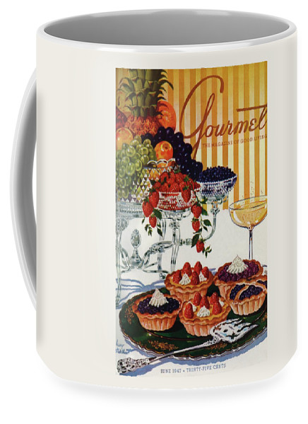 Food Coffee Mug featuring the photograph Gourmet Cover Of Fruit Tarts by Henry Stahlhut