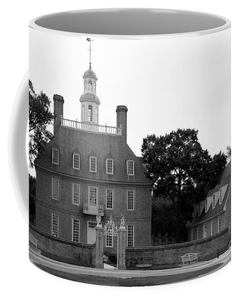 Governers Palace Coffee Mug featuring the photograph Governers Palace Colonial Williamsburg by Christiane Schulze Art And Photography