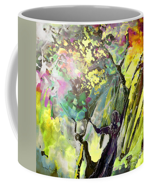 Fantasy Coffee Mug featuring the painting Grace Under Pressure by Miki De Goodaboom