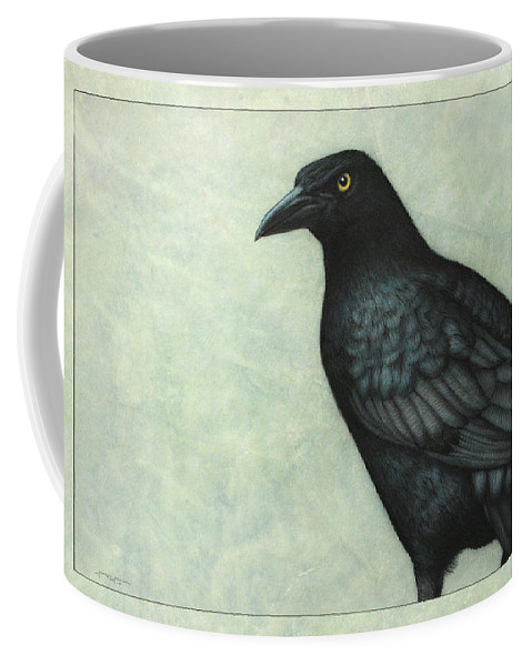 Grackle Coffee Mug featuring the painting Grackle by James W Johnson