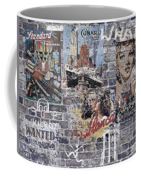 Graffiti Coffee Mug featuring the digital art Graffiti Walls by Neil Finnemore