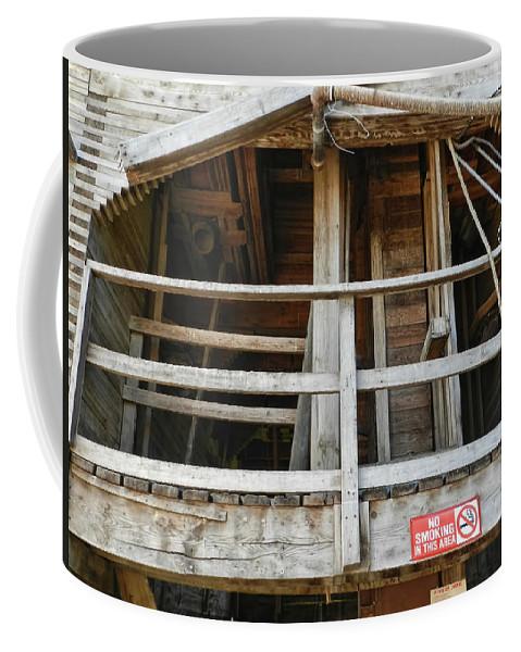 Grain Elevator Coffee Mug featuring the photograph Grain Elevator by Cathy Anderson