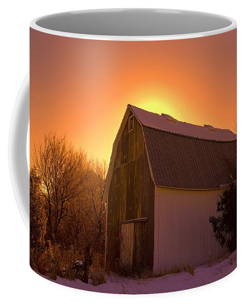 Farm Coffee Mug featuring the photograph Granary Rise by Bonfire Photography