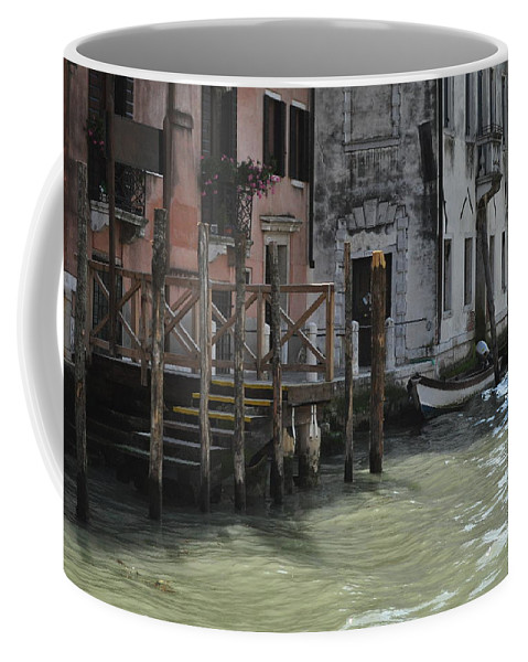 Grand Canal Coffee Mug featuring the photograph Grand Canal Style Home Sweet Home by Karen Maxwell