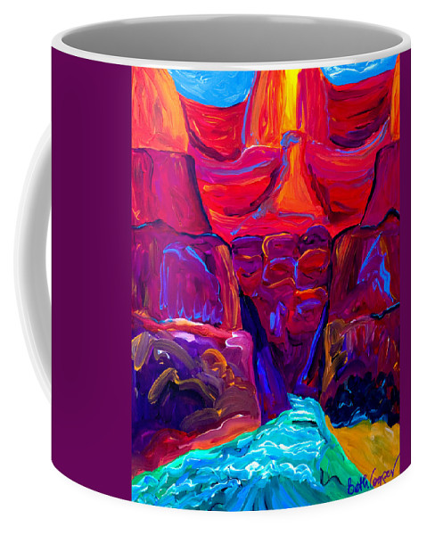 Grand Canyon Coffee Mug featuring the painting Grand Canyon by Beth Cooper