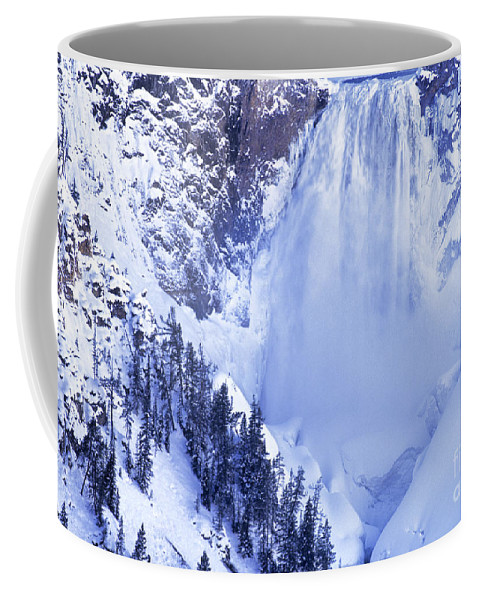 North America;wyoming;yellowstone Coffee Mug featuring the photograph Grand Canyon Of The Yellowstone Yellowstone National Park Wyoming by Dave Welling