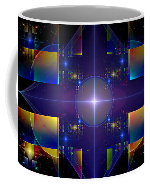 Fractal. Design Coffee Mug featuring the digital art Grand Central Star Station by GJ Blackman