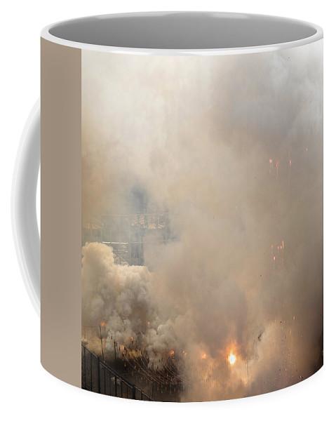 Mascleta Coffee Mug featuring the photograph Grand Finale Mascleta Fallas 2015 by For Ninety One Days