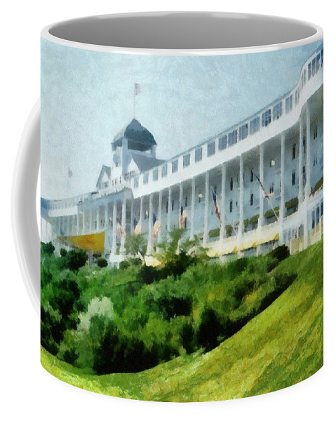 Hotel Coffee Mug featuring the photograph Grand Hotel Mackinac Island Ll by Michelle Calkins
