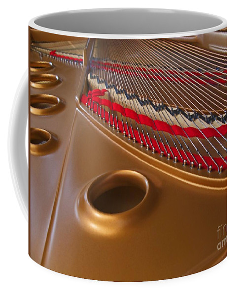 Piano Coffee Mug featuring the photograph Grand Piano by Ann Horn