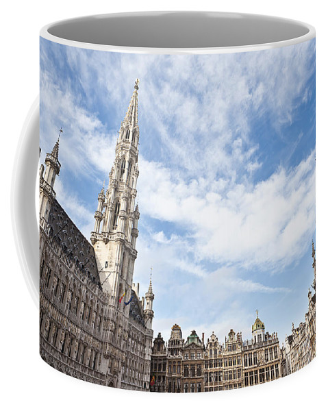 Belgium Coffee Mug featuring the photograph Grand Place In Brussels Belgium by Leslie Banks