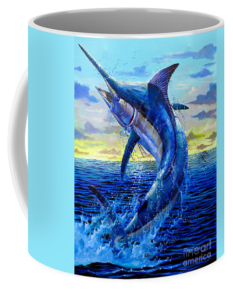 Marlin Coffee Mug featuring the painting Grander Off007 by Carey Chen