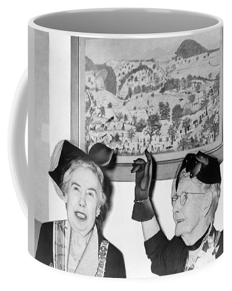 1953 Coffee Mug featuring the photograph Grandma Moses by Roger Higgins