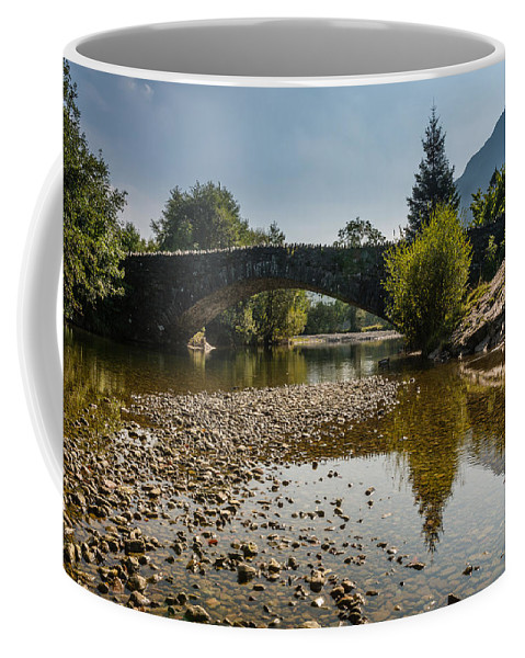 Arched Coffee Mug featuring the photograph Grange Bridge by David Head