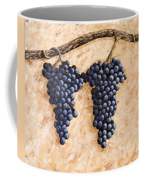 Grape Vine Coffee Mug featuring the painting Grape Vine by Darice Machel McGuire