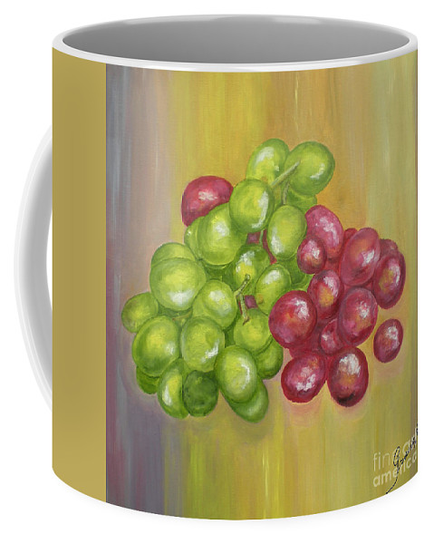 Grapes Coffee Mug featuring the painting Grapes by Graciela Castro