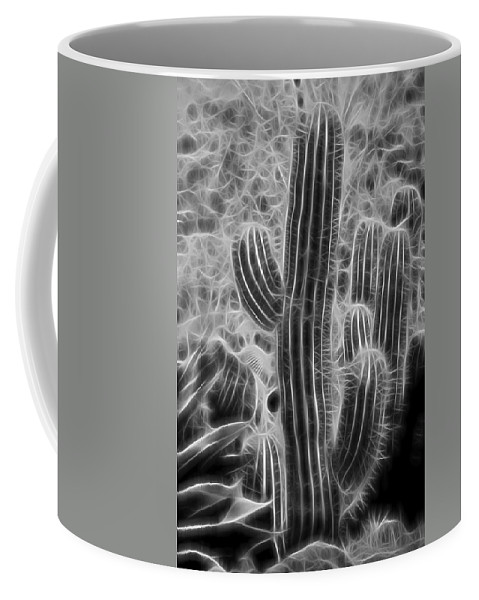 Graphic Cactus Coffee Mug featuring the photograph Graphic Cactus by Kelley King