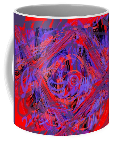 Graphic Art Coffee Mug featuring the digital art Graphic Explosion by Pharris Art