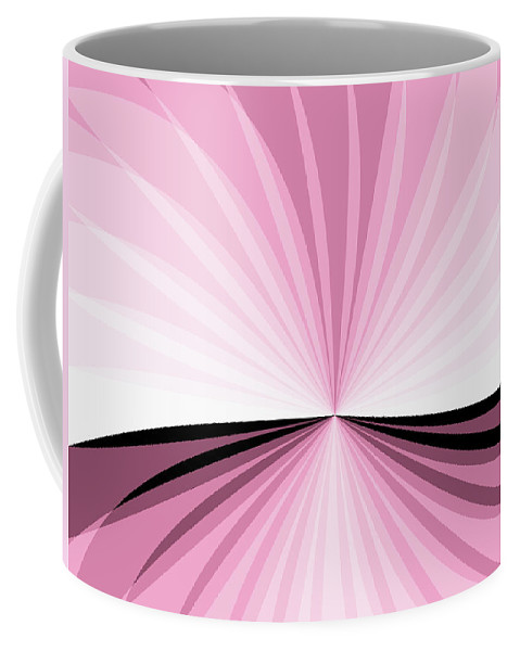 Digital Art Coffee Mug featuring the digital art Graphic Pink And White by Gabiw Art